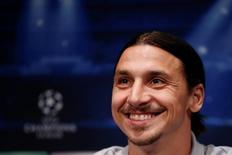Zlatan Ibrahimovic concede entrevista em Paris.  1/4/2014. REUTERS/Gonzalo Fuentes
