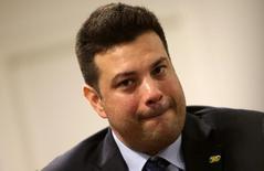 Picciani concede entrevista em Brasília. 18/5/2016. REUTERS/Adriano Machado