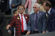 Britain Tennis - Wimbledon - All England Lawn Tennis & Croquet Club, Wimbledon, England - 10/7/16 Singer Sir Cliff Richard on centre court REUTERS/Andrew Couldridge