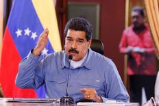 Venezuela's President Nicolas Maduro speaks during a Council of Ministers meeting at Miraflores Palace in Caracas, Venezuela July 11, 2016. Miraflores Palace/Handout via REUTERS