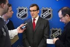 Former Washington Capitals general manager, George McPhee, speaks to media in New York, in this file photo dated January 9, 2013. REUTERS/Lucas Jackson