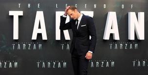 """Ator Alexander Skarsgård durante pré-estreia do filme """"A Lenda de Tarzan"""" em Londres 05/07/2016 REUTERS/Paul Hackett"""