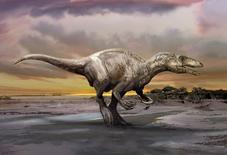 Ilustración del dinosaurio Murusraptor barrosaensis, descubierto en Argentina y que vivió hace unos 80 millones de años. Los fósiles de un dinosaurio carnívoro hallado en Argentina están dando nuevas pistas sobre un intrigante grupo de depredadores que aparentemente podían matar a sus víctimas con sus garras con forma de hoz y mutilarlas. Courtesía de Jan Sovak/via REUTERS
