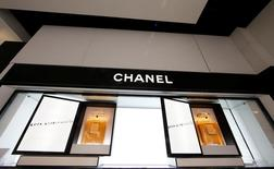 Perfume Coco Mademoiselle of French luxury brand Chanel on display at the duty free during the inauguration of the commercial zone at the Nice international airport Terminal 1 in Nice, France, June 10, 2016.  REUTERS/Eric Gaillard