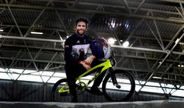 Britain Cycling - Team GB - Rio 2016 BMX Team Media Session - National Cycling Centre, Manchester - 21/7/16 Great Britain's Liam Phillips poses during the media session Action Images via Reuters / Carl Recine