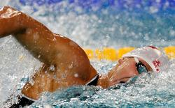 Nikita Lobintsev of Russia swims during the 400m freestyle heats of the European Swimming Championships in Eindhoven March 18, 2008.     REUTERS/Damir Sagolj
