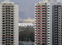 A view of one of the blocks of apartments where Canadal's athletes competing in the Rio 2016 Olympic Games are supposed to stay in the Olympic Village in Rio de Janeiro, Brazil, July 23, 2016. REUTERS/Ricardo Moraes