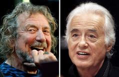 Fotos de arquivo de Robert Plant e Jimmy Page, do Led Zeppelin.  REUTERS/Carlo Allegri, Hans Deryk