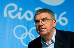 2016 Rio Olympics - Olympic Park - Rio de Janeiro, Brazil - 31/07/2016.  International Olympic Committee (IOC) President Thomas Bach holds press conference.          REUTERS/Chris Helgren