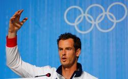 2016 Rio Olympics - Tennis - Main Press Centre - Rio de Janeiro, Brazil - 04/08/2016. Andy Murray (GBR) of United Kingdom attends a news conference. REUTERS/Nacho Doce
