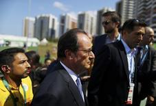 Presidente da França, François Hollande, durante evento no Rio de Janeiro.   04/08/2016     REUTERS/Ivan Alvarado