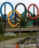 Anéis Olímpicos são vistos no Parque Madureira, no Rio de Janeiro 17/072016/ REUTERS/Bruno Kelly