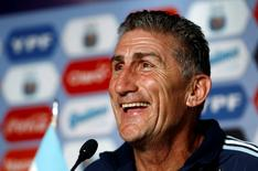 Argentina's new national soccer team coach Edgardo Bauza attends a news conference at the squad's camp in Buenos Aires, Argentina, August 5, 2016. REUTERS/Agustin Marcarian