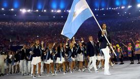 Delegação argentina 05/08/2016 REUTERS/Kai Pfaffenbach