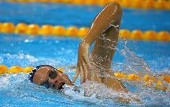 Rio Olympics - Swimming training - Olympic Aquatics Stadium - Rio de Janeiro, Brazil - 04/08/2016. Yannick Agnel (FRA) of France during training. REUTERS/David Gray