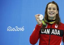 Penelope Oleksiak, do Canadá. REUTERS/David Gray