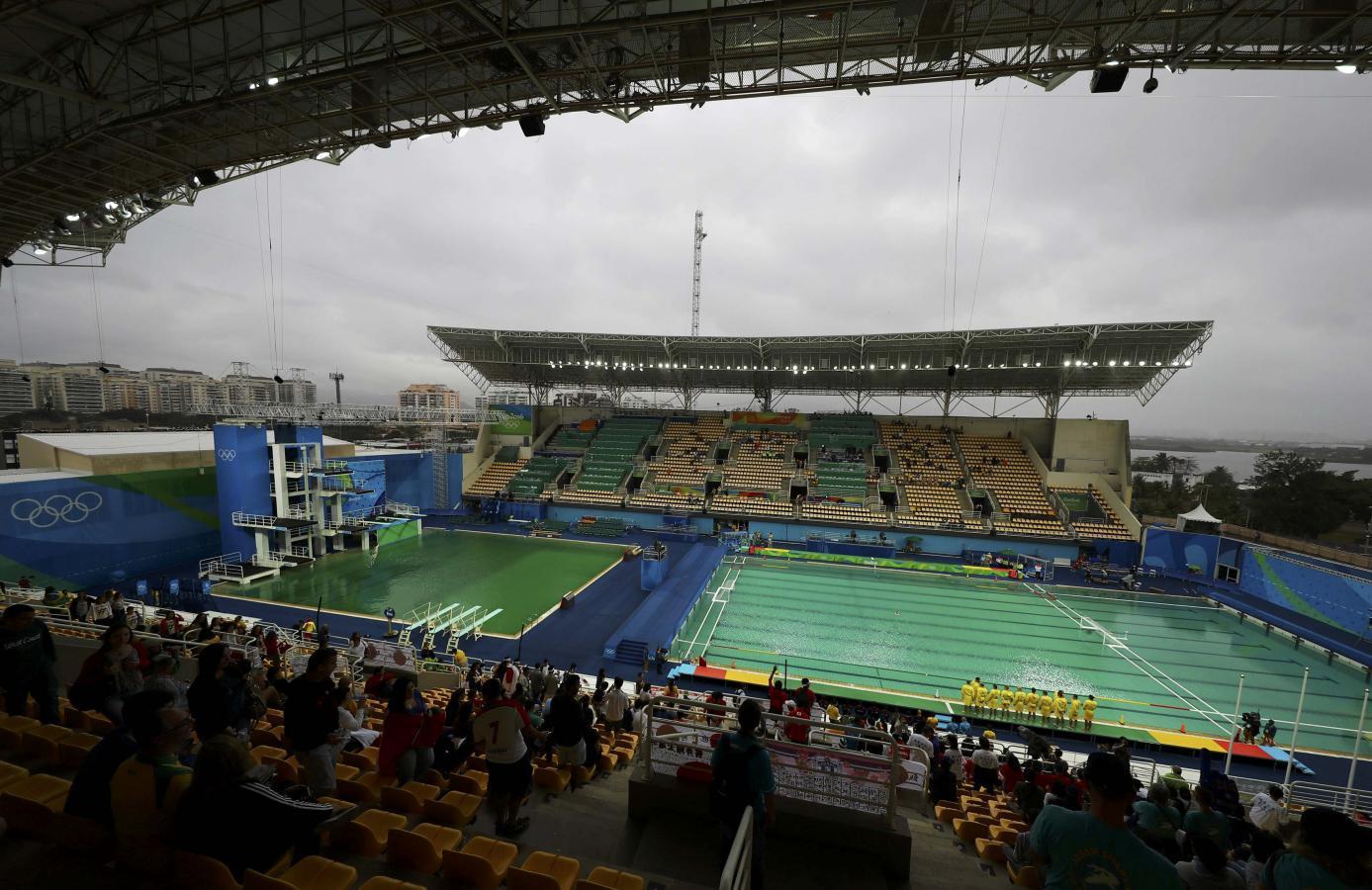 Olympics: Drop in alkalinity to blame for green pool - Rio organisers : poolkemikalier : Inredning