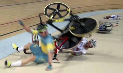 Crashes at the Rio velodrome