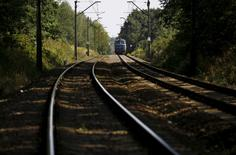 A train travels in an area where a Nazi train is believed to be, in Walbrzych, southwestern Poland August 30, 2015. REUTERS/Kacper Pempel