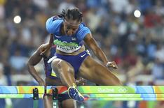 2016 Rio Olympics - Athletics - Semifinal - Women's 100m Hurdles Semifinals - Olympic Stadium - Rio de Janeiro, Brazil - 17/08/2016. Brianna Rollins (USA) of USA competes. REUTERS/Lucy Nicholson