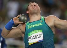 Darlan Romani arremessa peso na Rio 2016.  18/08/2016.     REUTERS/Phil Noble