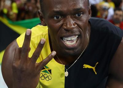 Usain Bolt's historic triple-triple