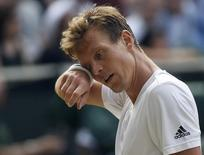 Britain Tennis - Wimbledon - All England Lawn Tennis & Croquet Club, Wimbledon, England - 8/7/16 Czech Republic's Tomas Berdych during his match against Great Britain's Andy Murray REUTERS/Toby Melville