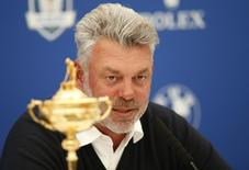 BMW PGA Championship - Wentworth Club, Virginia Water, Surrey, England - 27/5/16 Europe team captain Darren Clarke talks at a press conference as he names his three vice captains for the 2016 Ryder Cup Action Images via Reuters / Andrew Boyers Livepic