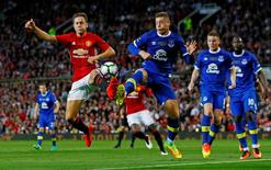 Football Soccer Britain - Manchester United v Everton - Wayne Rooney Testimonial - Old Trafford - 3/8/16 Manchester United's Ander Herrera in action with Everton's Ross Barkley Action Images via Reuters / Jason Cairnduff Livepic EDITORIAL USE ONLY.