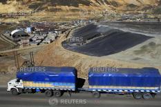 Vista de la localidad de Morococha junto a un yacimiento de cobre en el departamento andino de Junín, en el centro de Perú.  Imagen de archivo. REUTERS/Pilar Olivares (PERU - Tags: POLITICS ENVIRONMENT)