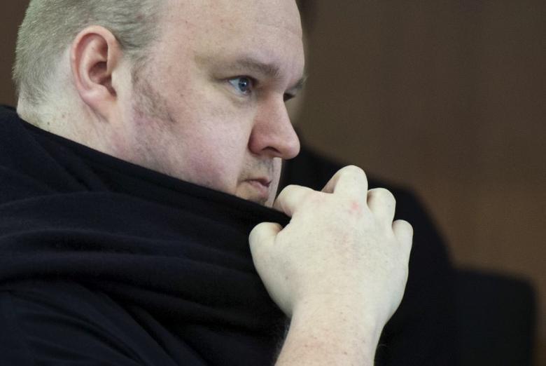 German tech entrepreneur Kim Dotcom appears in an Auckland court, December 23, 2015. REUTERS/Chris Cameron
