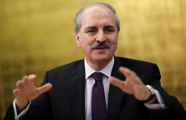 Deputy Prime Minister Numan Kurtulmus Numan Kurtulmus talks to foreign media in Ankara in this file photo dated January 21, 2014. REUTERS/Umit Bektas