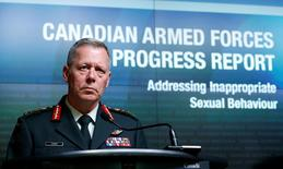 Canada's Chief of Defence Staff General Jonathan Vance takes part in a news conference upon the release of a progress report on addressing inappropriate sexual behaviour in the Canadian Armed Forces, in Ottawa, Ontario, Canada August 30, 2016. REUTERS/Chris Wattie