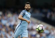 Atacante do Manchester City Sergio Aguero . 28/08/2016 Action Images via Reuters/Carl Recine