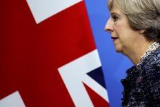 Les indicateurs conjoncturels britanniques ont donnée lundi de nouveaux signes de résistance de l'économie du pays au choc lié au vote du 23 juin en faveur d'une sortie de l'Union européenne (Brexit) même si un net ralentissement de l'activité et un nouvel assouplissement monétaire par la Banque d'Angleterre restent à l'ordre du jour. /Photo prise le 5 septembre 2016/REUTERS/Damir Sagolj