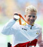Atleta paralímpica belga Marieke Vervoort .   10/09/2016            REUTERS/Jason Cairnduff