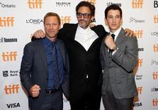 """Elenco do filme """"Bleed for This"""" durante evento em Toronto.   12/09/2016            REUTERS/Mark Blinch"""