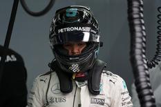 Formula One - Singapore Grand Prix - Marina Bay, Singapore - 17/9/16 Mercedes' driver Nico Rosberg of Germany before qualifying. REUTERS/Jeremy Lee