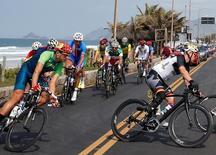 2016 Rio Paralympics - Cycling Road - Men's Road Race B - Rio de Janeiro, Brazil - 17/09/2016. Sarafraz Bahman Golbarnezhad (IRI) of Iran competes. REUTERS/Carlos Garcia Rawlins