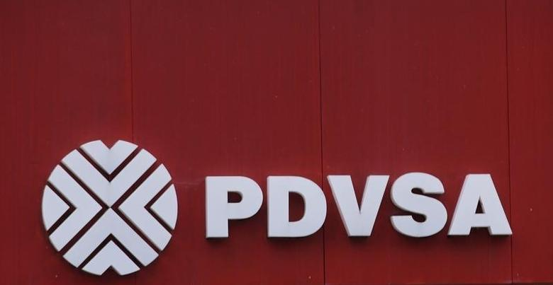 The logo of the Venezuelan state oil company PDVSA is seen at a gas station in Caracas, Venezuela, September 13, 2016. REUTERS/Henry Romero
