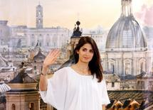 Rome's mayor Virginia Raggi gestures during a news conference in Rome, Italy June 20, 2016. REUTERS/Remo Casilli