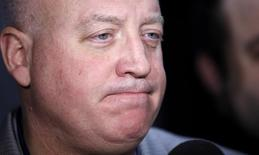 Bill Daly, deputy commissioner of the NHL, speaks to the media in New York November 11, 2012.  REUTERS/Carlo Allegri
