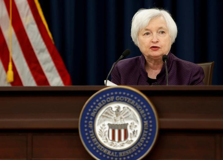 United States Federal Reserve Chair Janet Yellen holds a news conference following the two-day Federal Open Market Committee meeting in Washington, U.S., September 21, 2016.          REUTERS/Gary Cameron