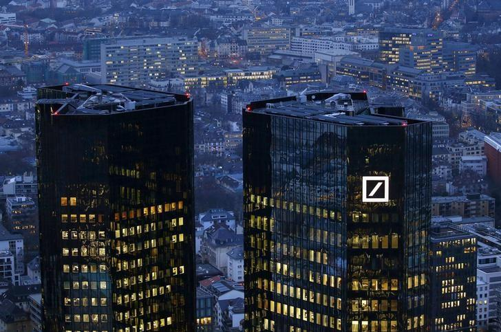 2016年1月26日,德国法兰克福,德意志银行总部。REUTERS/Kai Pfaffenbach