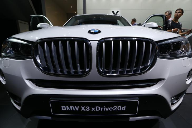 A BMV X3 xDrive20d is seen on display at the Frankfurt Motor Show (IAA) in Frankfurt, Germany September 24, 2015. REUTERS/Ralph Orlowski/Files