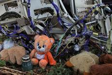 Плюшевый мишка на обломках лайнера Malaysia Airlines, летевшего 17 июля 2014 года рейсом MH17 и упавшего рядом с деревней Грабово.  Фото сделано на месте катастрофы 9 сентября 2014 года. МИД Нидерландов вызвал российского посла в Гааге, чтобы выразить недовольство критическими замечаниями Москвы в адрес доклада о крушении малайзийского пассажирского лайнера на востоке Украины в 2014 году. REUTERS/Marko Djurica/File Photo