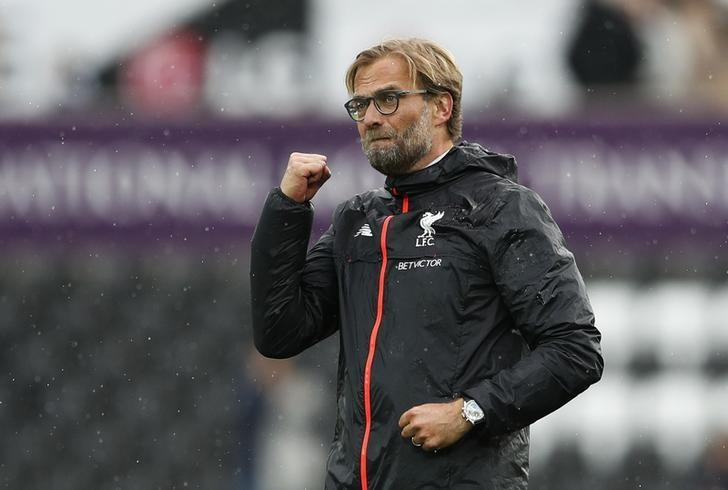 Britain Soccer Football - Swansea City v Liverpool - Premier League - Liberty Stadium - 1/10/16Liverpool manager Juergen Klopp celebrates after the game Action Images via Reuters / John SibleyLivepic