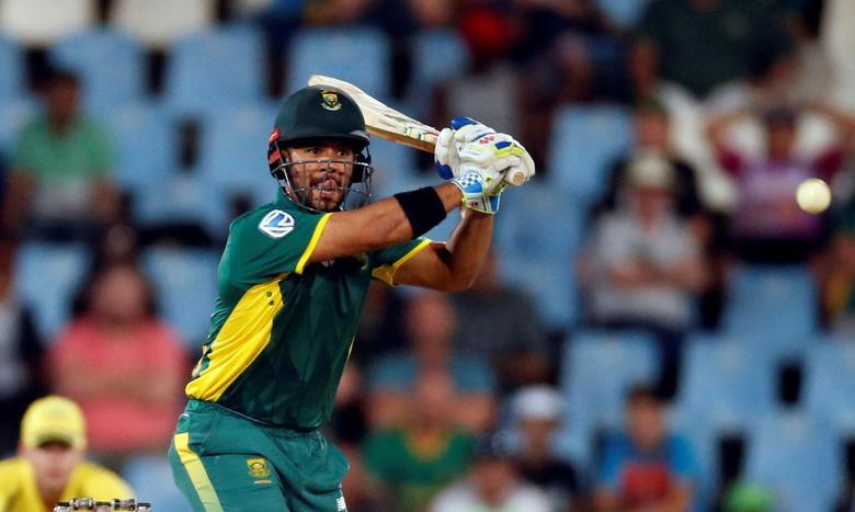 Cricket - Australia v South Africa - first ODI cricket match - Centurion Park, Centurion, South Africa - 30/9/2016. South Africa's JP Duminy plays a shot. REUTERS/Siphiwe Sibeko