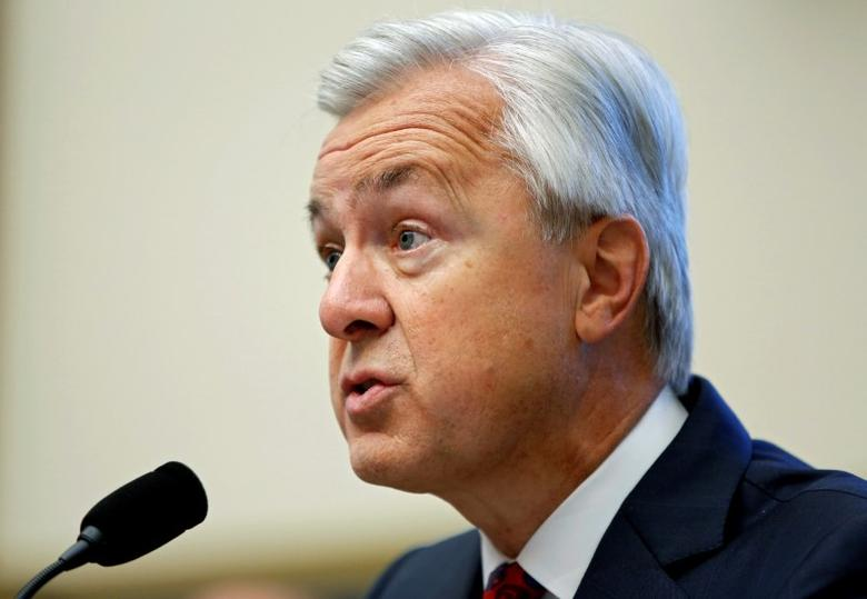 Wells Fargo CEO John Stumpf testifies before the House Financial Services Committee on Capitol Hill  in Washington, DC, U.S. September 29, 2016. REUTERS/Gary Cameron