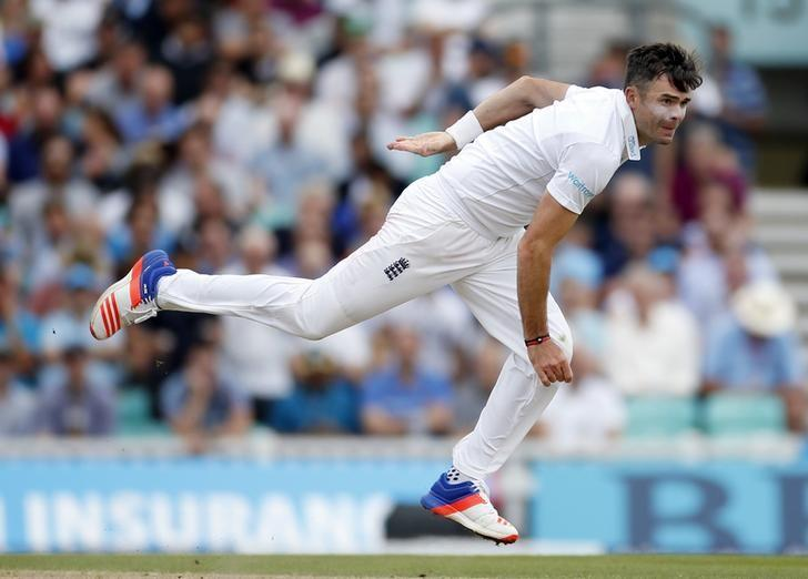 Britain Cricket - England v Pakistan - Fourth Test - Kia Oval - 13/8/16England's James Anderson in actionAction Images via Reuters / Paul ChildsLivepic/Files